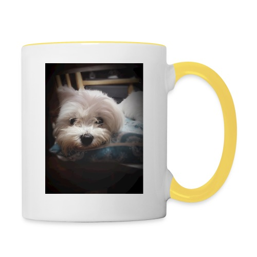 Pure White Pup - Contrasting Mug