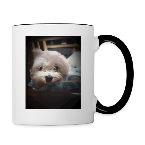 Pure White Pup - Contrasting Mug