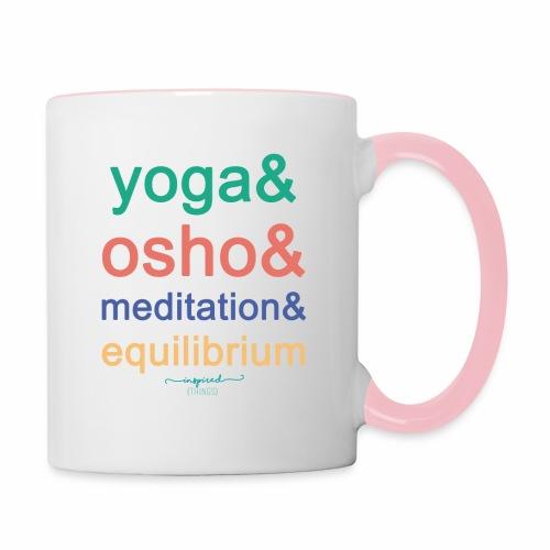 Yoga& Osho& Meditation& Equilibrium - Contrasting Mug