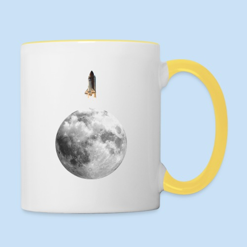 Mondrakete - Tasse zweifarbig
