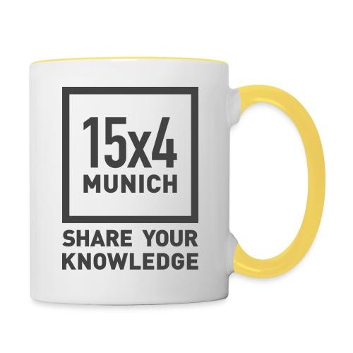 Share your knowledge - Tasse zweifarbig