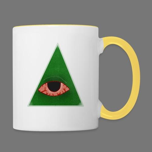 illuminati eye - Taza en dos colores