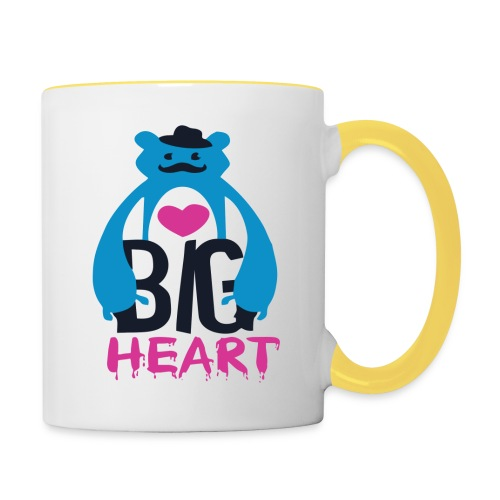 Big Heart Monster Hugs - Contrasting Mug