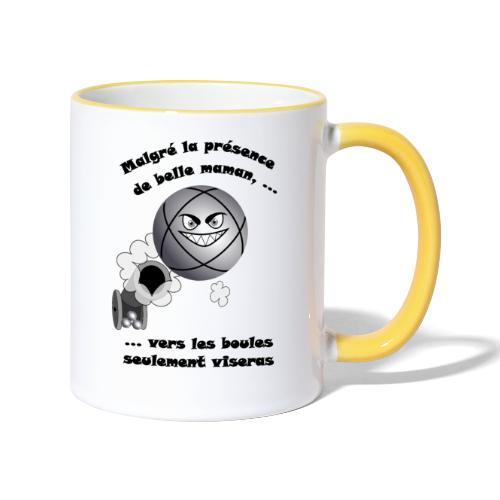 t shirt pétanque belle mere tireur boule humour FC - Mug contrasté
