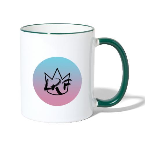logo lrf rond black casquette - Mug contrasté
