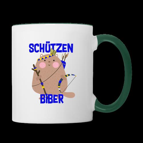 Schützenfest Biber Biberach Biberacher Schützen - Tasse zweifarbig