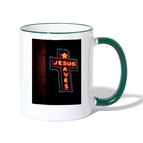 Jesus Saves - Contrasting Mug