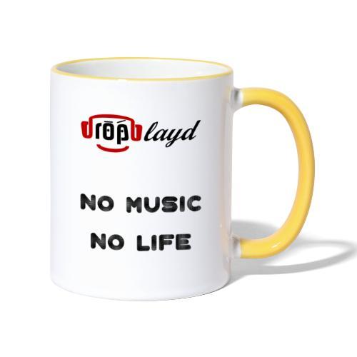 dropblayd Merch - No Music No Life - Tasse zweifarbig