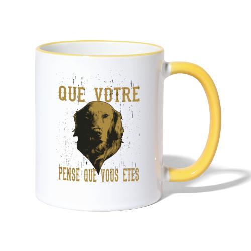 Un amour de chien - Mug contrasté