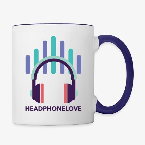 headphonelove - Tasse zweifarbig