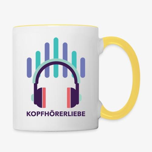 kopfhörerliebe - Tasse zweifarbig