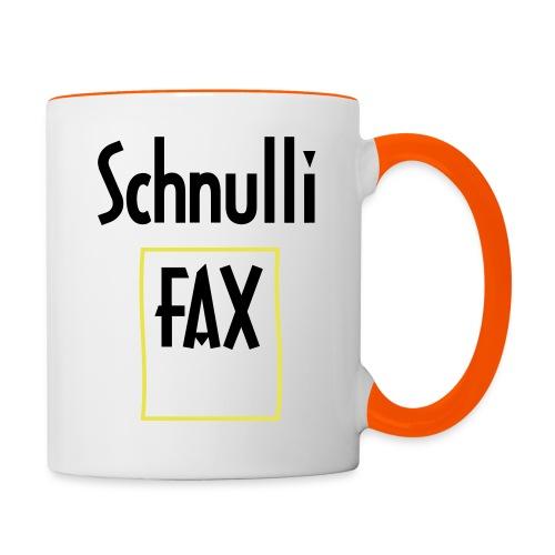 Schnullifax Schnulli per Fax Papier Blatt - Tasse zweifarbig