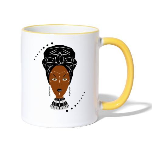 African Black/White Wrap - Contrasting Mug