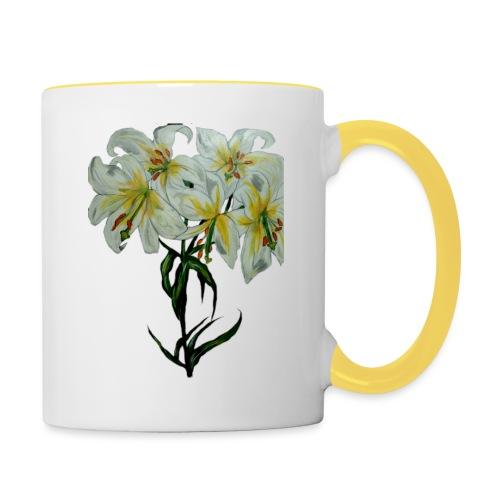 Lily painting - Contrasting Mug