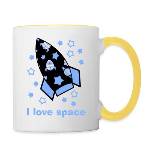 I love space - Tazze bicolor