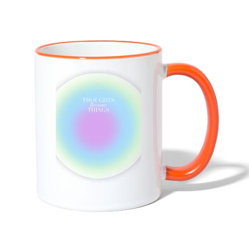 thoughts became things - Taza en dos colores