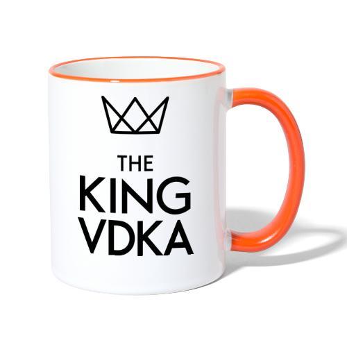 The King VDKA Logo schwarz RGB - Tasse zweifarbig