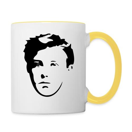 Arthur Rimbaud visage - Mug contrasté