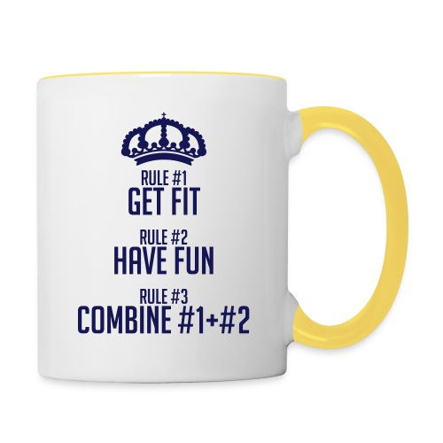 FITNESS RULES - Taza en dos colores