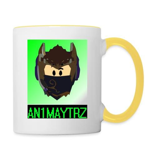 AN1MAYTRZ logo + title - Contrasting Mug