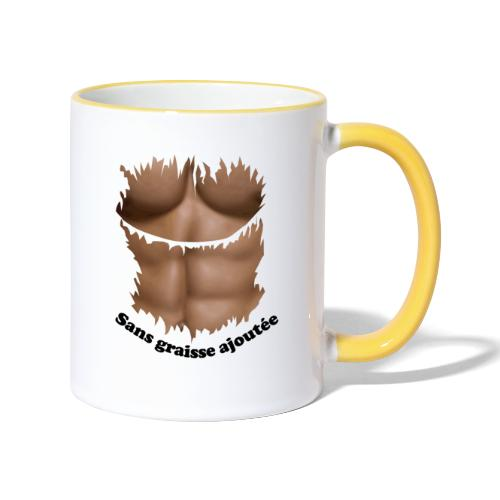 abdos sans graisse ajoutée FC - Mug contrasté