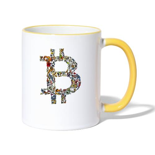BITCOIN logo color - Mok tweekleurig