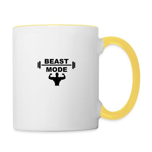 beast mode - Tvåfärgad mugg