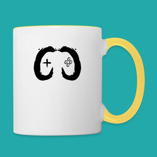 Crowd Control Controller Logo Black Large - Contrasting Mug