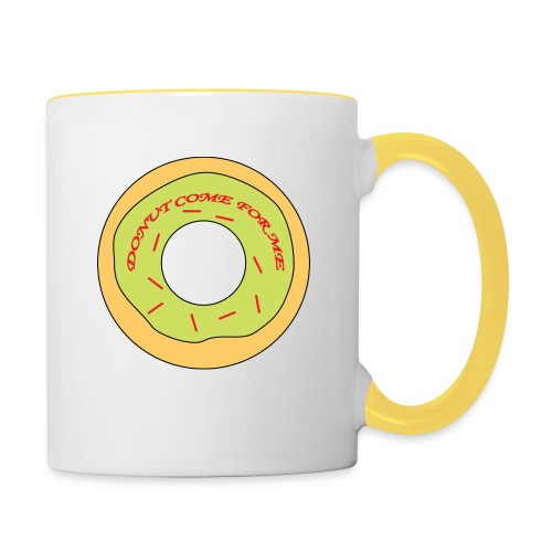 Donut Come For Me Red - Contrasting Mug