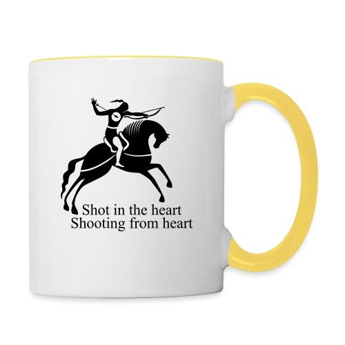 Shot in the Heart - Contrasting Mug