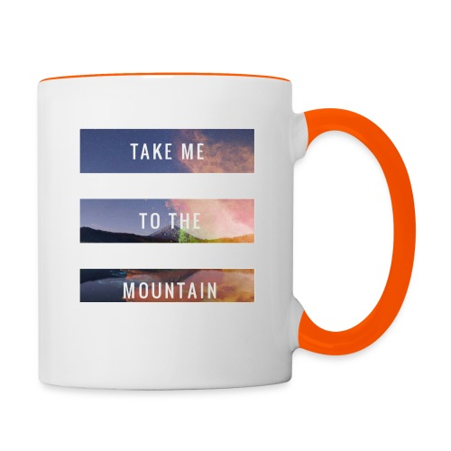 Take me to the mountain - Taza en dos colores