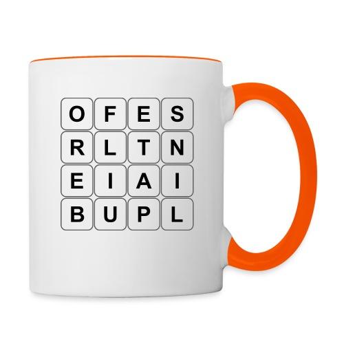 Grille 493 mots - Lettres verticales - Mug contrasté