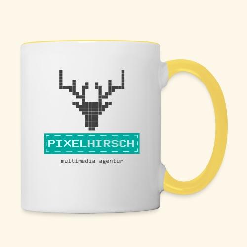 PIXELHIRSCH - Logo - Tasse zweifarbig