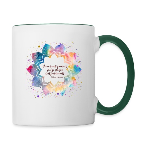 Citation de Nelson Mandela - Mug contrasté