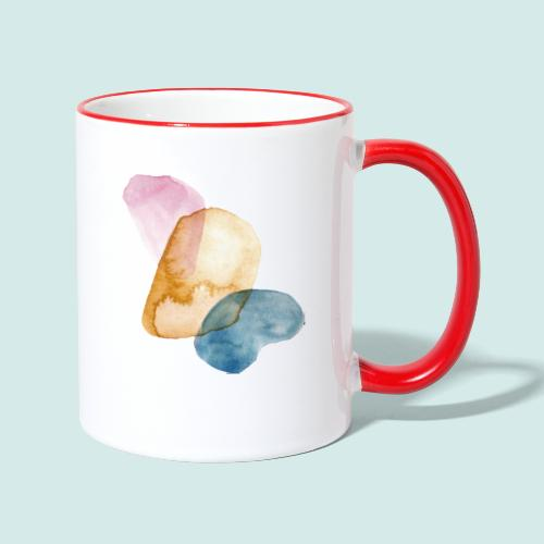Watercolors - Tasse zweifarbig
