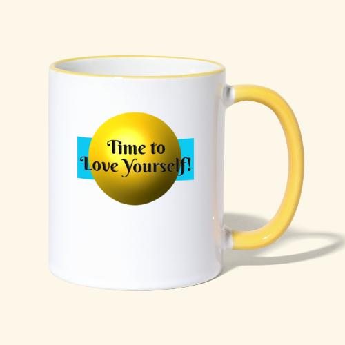 Time to Love Yourself - Tasse zweifarbig
