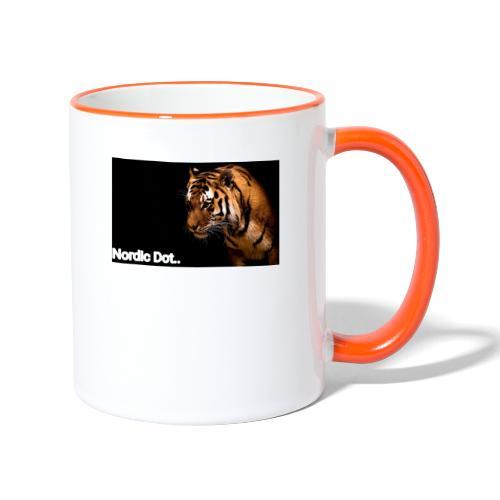 Tiger - Tofarvet krus