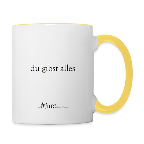 True Power #jura - Tasse zweifarbig