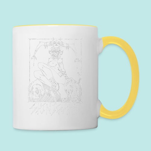 Femme elfe crâne mort dark rock Blanc - Mug contrasté