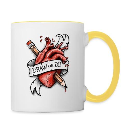Draw or Die - Contrasting Mug