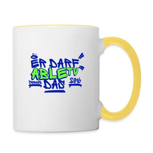 AbleTV Grafitti Logo Marken Shirt (Er Darf Das) - Tasse zweifarbig