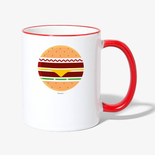 Circle Burger - Tazze bicolor