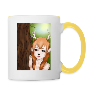 Sam sung s6:Deer-girl design by Tina Ditte - Contrasting Mug