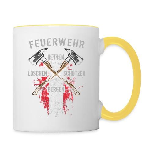 Retten Löschen Bergen Schützen - Tasse zweifarbig