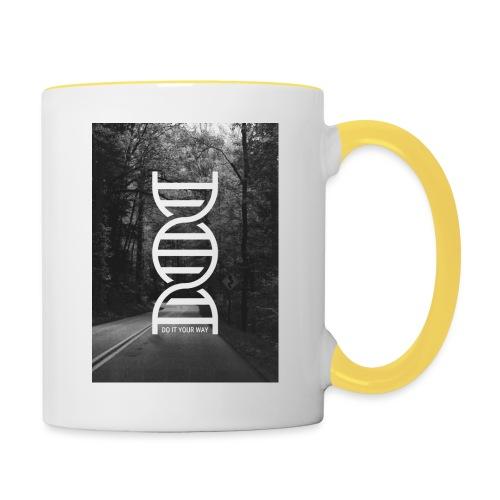Fotoprint DNA Straße - Tasse zweifarbig