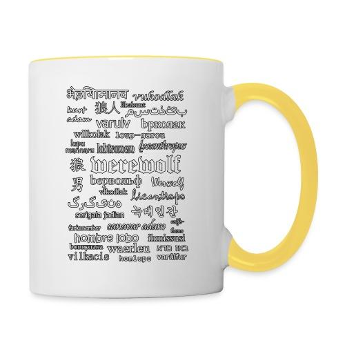 Werewolf in 33 Languages (Black Ver.) - Contrasting Mug