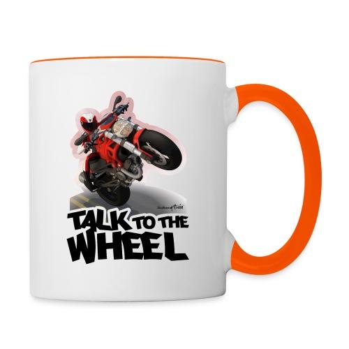 Ducati Monster Wheelie B - Taza en dos colores