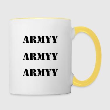 armeija print sanat - Kaksivärinen muki