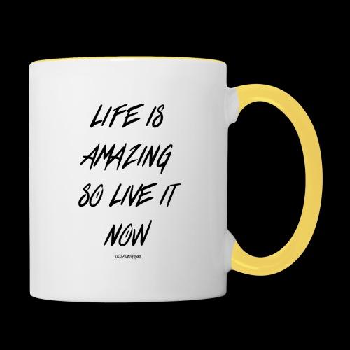 Life is amazing Samsung Case - Contrasting Mug