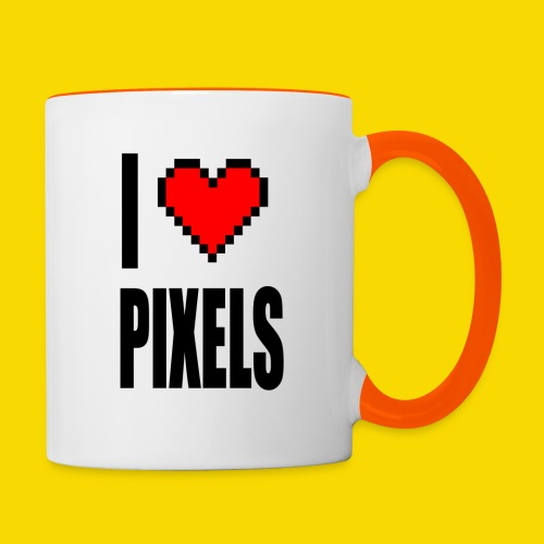 I Love Pixels - Kubek dwukolorowy